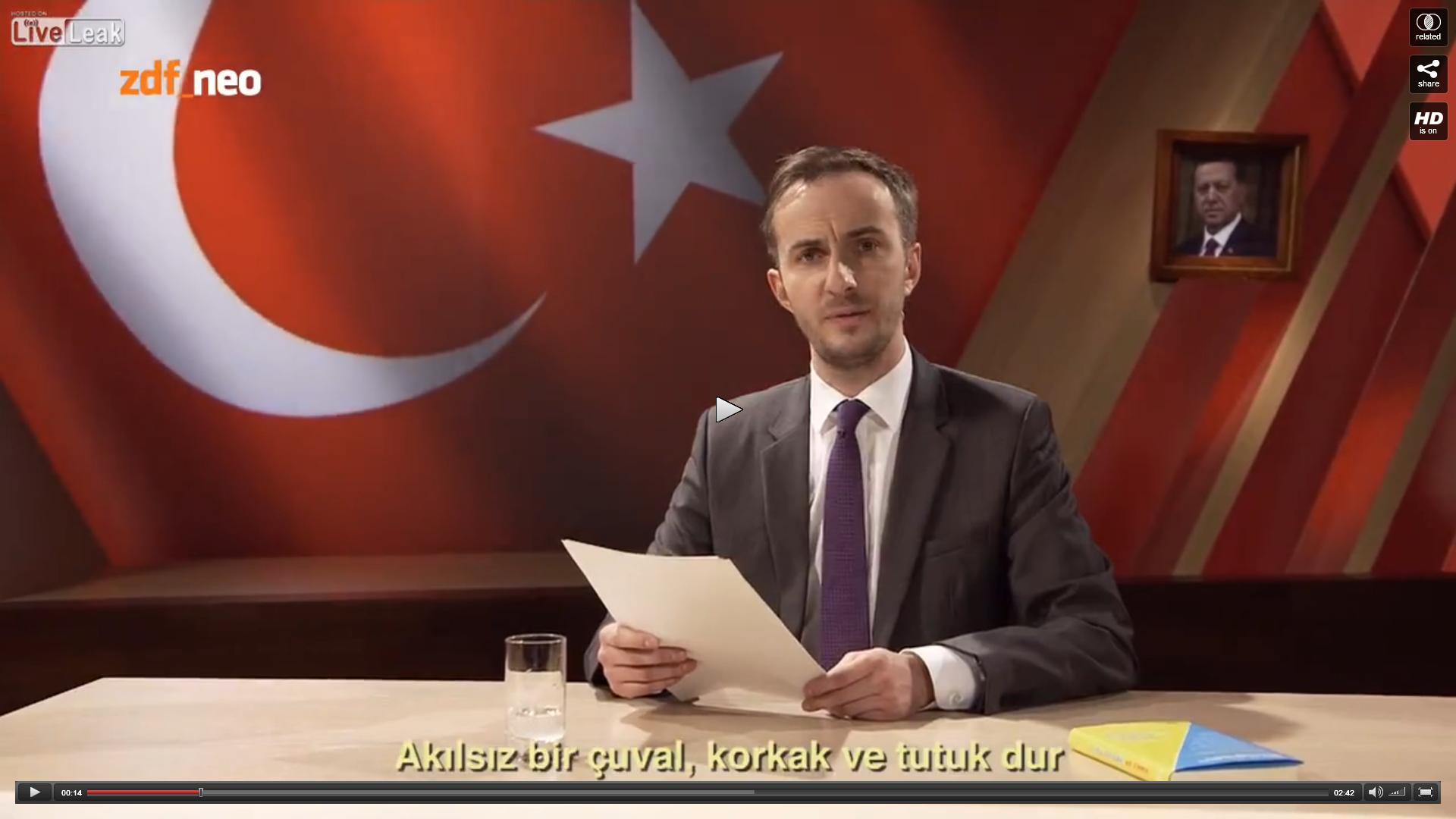 Böhmermann op Erdogan